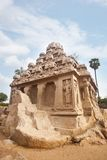 Ancient Pancha Rathas temple at Mahabalipuram Stock Photos