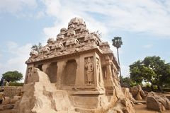 Ancient Pancha Rathas temple at Mahabalipuram Stock Images