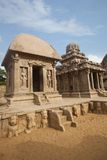 Ancient Pancha Rathas temple at Mahabalipuram Royalty Free Stock Photography