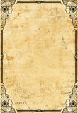 Ancient paper. Abstract ancient sheet of paper Royalty Free Stock Photography