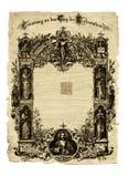 Ancient paper. Antique grunge document stock images