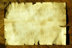 Ancient paper. Close up on wood royalty free stock images