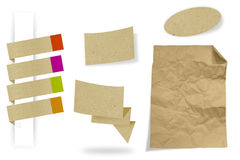 Ancient paper collection. With clipping path Stock Photo