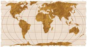 Ancient Paper Map Stock Photo