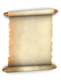 Ancient paper scroll. 3d illustration of an ancient paper scroll over white background Royalty Free Stock Photography
