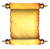Ancient paper scroll. 3d illustration of ancient paper scroll isolated over white background Royalty Free Stock Photos