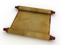 Ancient paper scroll Stock Photography