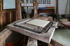 Ancient papermaking in Heshun town, Yunnan, China Stock Photos