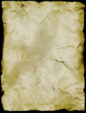 Ancient Parchment. Age stained parchment burnt, stained and wrinkled Royalty Free Stock Photo