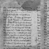 Ancient Parchment Text Paper. Ancient script on parchment paper Stock Image