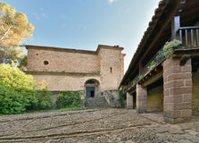 Ancient part of the Castle of Xavier Castillo de Javier Royalty Free Stock Photography