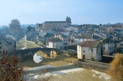 The ancient part in the French town Nerac Stock Images