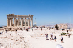 ANCIENT PARTHENON IN ACROPOLIS ATHENS GREECE Stock Photos