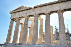 Ancient Parthenon Acropolis in Athens Greece Royalty Free Stock Images