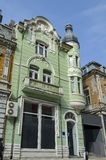 Ancient partial renovated building in Ruse town Stock Photography