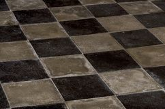 Ancient and particular checkerboard floor royalty free stock images