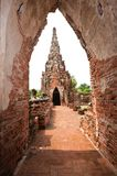 Ancient passage way and chedi , Thailand. Stock Photography