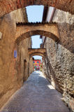 Ancient pathway. Sirmione, Italy. Royalty Free Stock Photo