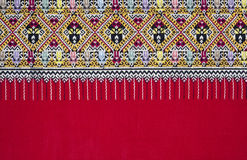 Ancient Pattern style Thai Cotton Stock Image