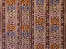 Ancient Pattern style Thai Cotton Royalty Free Stock Image
