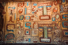 Ancient maya and aztecs pattern Royalty Free Stock Photo