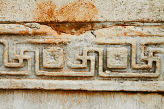 Ancient patterns in Ephesus, Turkey. Royalty Free Stock Photos