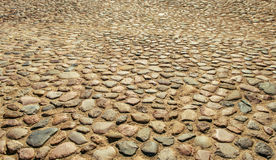 Ancient pavement road Royalty Free Stock Images
