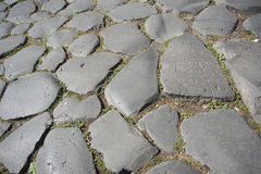 Ancient pavement in rome, Stock Image