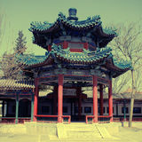 Ancient pavilion , Beijing ,China, instagram effect Stock Photography