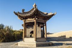 Ancient pavilion in Jiayuguan castle Stock Image
