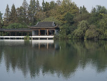 Ancient pavilion, westlake hangzhou Stock Photo