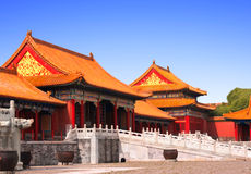 Ancient pavilions, Forbidden City, Beijing, China Stock Photography