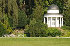 Ancient Pavillion In Parc Scenery Stock Photo