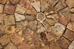 Ancient paving stone Stock Images