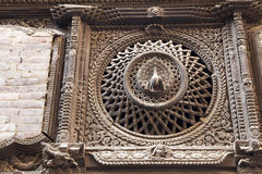 Ancient Peacock Window, Bhaktapur, Nepal Royalty Free Stock Image