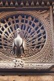 Ancient Peacock Window, Bhaktapur, Nepal Stock Images