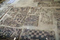 Ancient pebbled floor mosaic Royalty Free Stock Photos