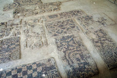 Ancient pebbled floor mosaic Royalty Free Stock Images