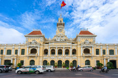 Ancient of People's Committee Building in Sai Gon. Ho Chi Minh City / Vietnam - November 01, 2016 : Ancient of People's Committee Building in Sai Gon, Vietnam Royalty Free Stock Image