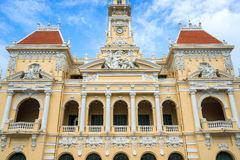 Ancient of People's Committee Building in Sai Gon. Ho Chi Minh City / Vietnam - November 01, 2016 : Ancient of People's Committee Building in Sai Gon, Vietnam Royalty Free Stock Images