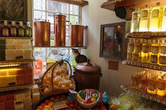 Ancient perfume laboratory in the village Gourdon, France Royalty Free Stock Image