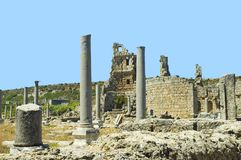 Ancient Perge. Archeological view of ancient site in Perge Turkey Stock Photography