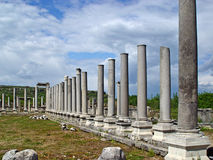 Ancient Perge city. Perge, located 19 km east of Antalya, used to be one of the most important cities of ancient Pamphylia. Its most notable son was Apollonius Royalty Free Stock Photography