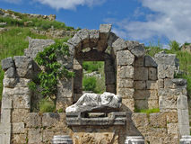 Ancient Perge city. Perge, located 19 km east of Antalya, used to be one of the most important cities of ancient Pamphylia. Its most notable son was Apollonius Royalty Free Stock Image