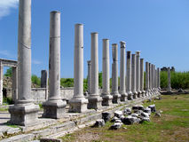 Ancient Perge city Stock Image