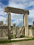 Ancient Perge city. Perge, located 19 km east of Antalya, used to be one of the most important cities of ancient Pamphylia. Its most notable son was Apollonius Stock Image