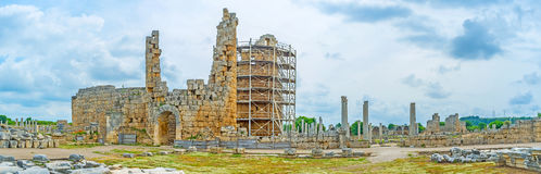 In ancient Perge Stock Photos