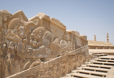 Ancient Persepolis entrance Stock Photos