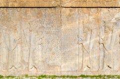 Ancient persian carving in Persepolis Stock Photos