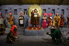 Ancient Peruvian Elite, Priests and Lords Inca stock image